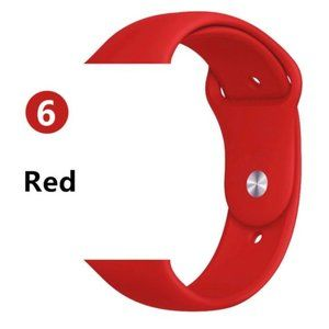 NEW RED Sport Silicone For Apple Watch